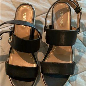 Vionic women's wedge sandals, size 9. Brand new.